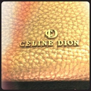 CELINE DION silver clutch purse